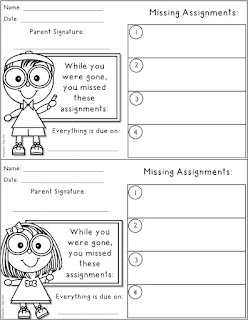 Free Missing Assignment Note
