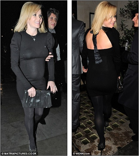 Pregnant Amanda Holden Shunned The Typical Loose Fitting Clothes For A Form Fitting Minidress As She Dined Out With Husband Chris Hughes In London Last
