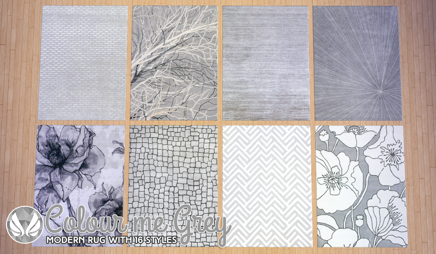 Simsational Designs Colour Me Grey Modern Rugs Updated