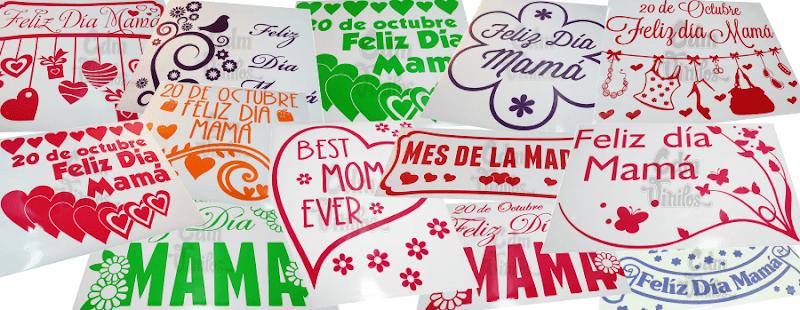 Vinilo Vidrieras Dia de la Madre, Carteles, Liquidacion, Rebajas, ploteos