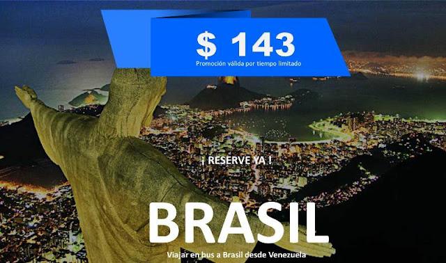 Viajar en bus a Brasil desde Venezuela