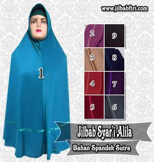 jilbab syar'i jumbo bahan spandek sutra