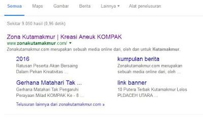 cara mudah mendapatkan sitelink google