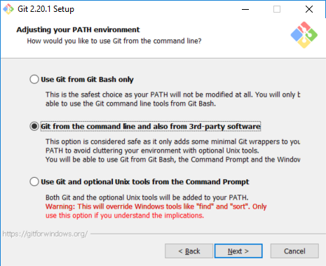 Git Bash on Visual Studio Code integrated terminal