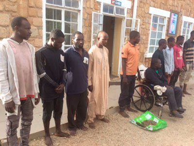 Police Officer, 9 Others Nabbed, Paraded For Plateau Killings