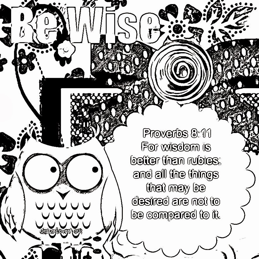 Children's Gems In My Treasure Box: Wisdom Coloring Sheets 3