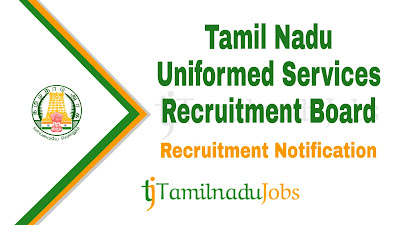 TNUSRB Recruitment notification 2019, govt jobs for graduates