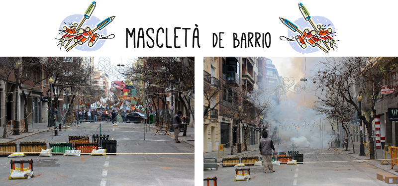Mascletà de barrio Fallas