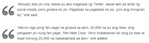 read the complete statement of Cess Visitacion