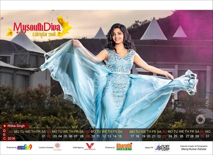 My South Diva Calendar 2018 - Ritika Singh