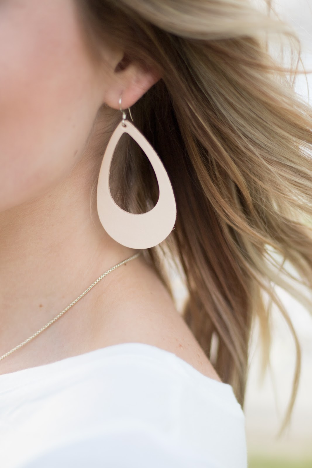 Lightweight leather statement earrings