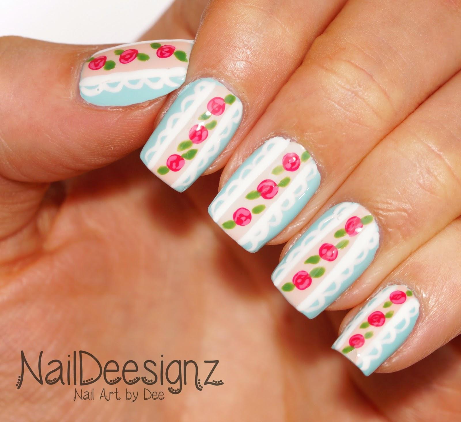 NailDeesignz: Shabby Chic Lace Nail Art
