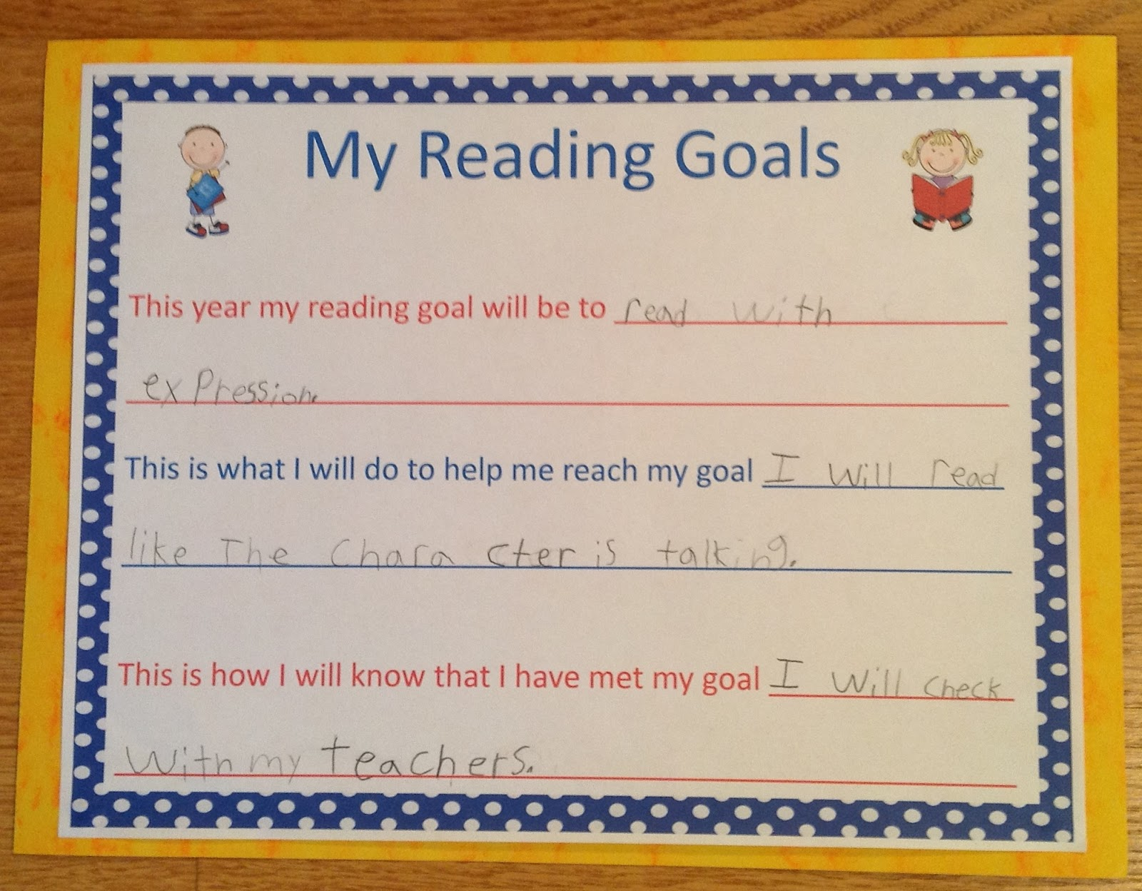 what is a long term reading goal