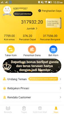 Bukti Pembayaran Poin di Aplikasi News Cat