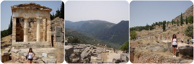 Grécia / Delfos / Templo de Apolo / Golfo do Corinto