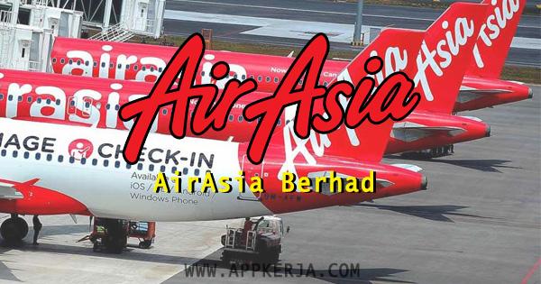 Jawatan Kosong terkini yang terdapat di AirAsia Berhad