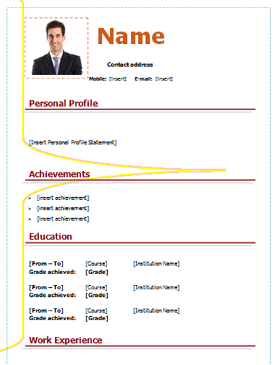 download cv form model nice style simple   picture