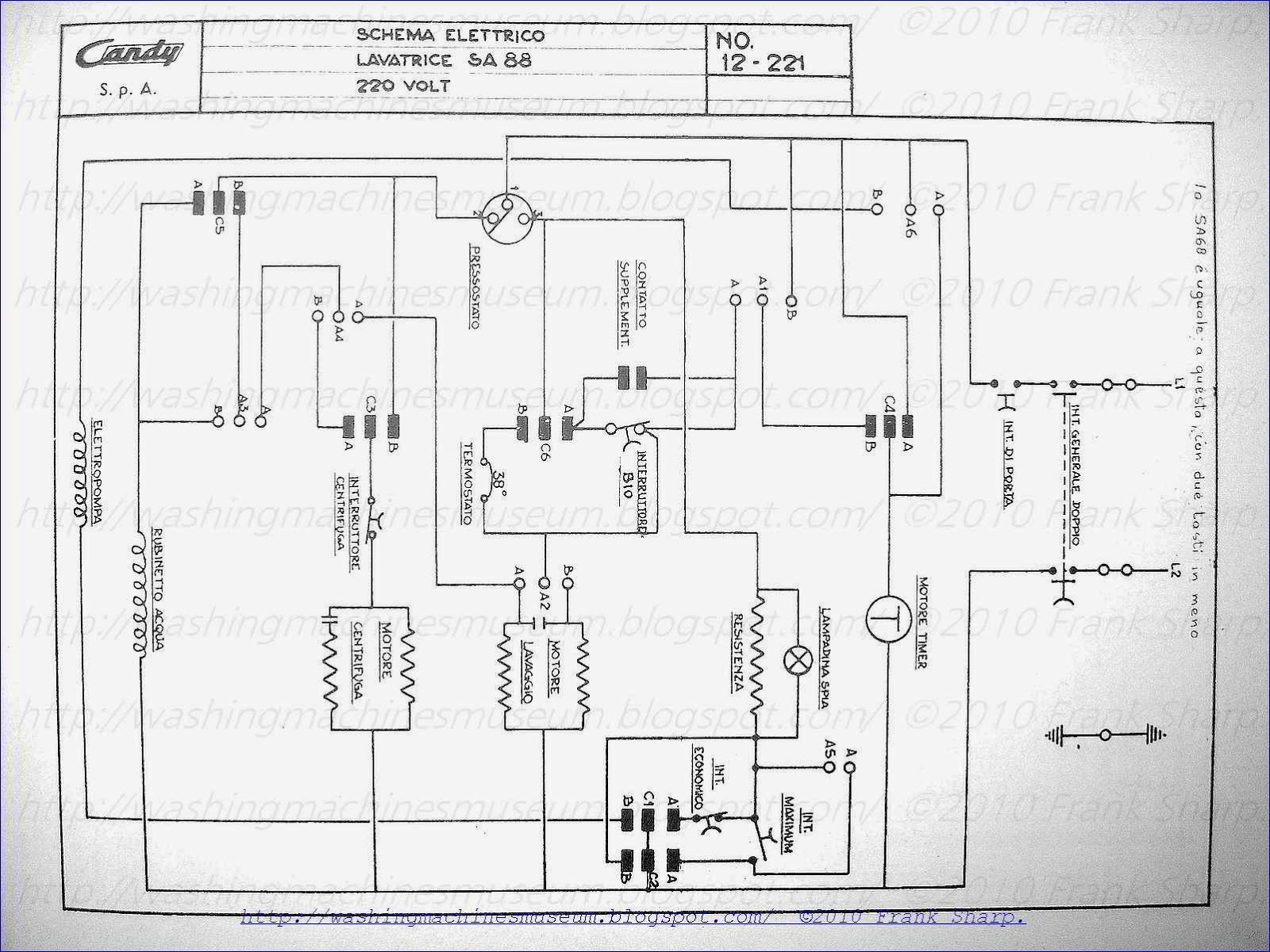 Washer Rama Museum: CANDY SA88 SCHEMATIC DIAGRAM