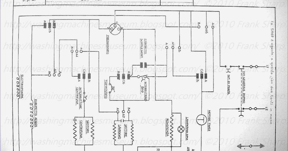 Washer Rama Museum.: CANDY SA88 SCHEMATIC DIAGRAM.