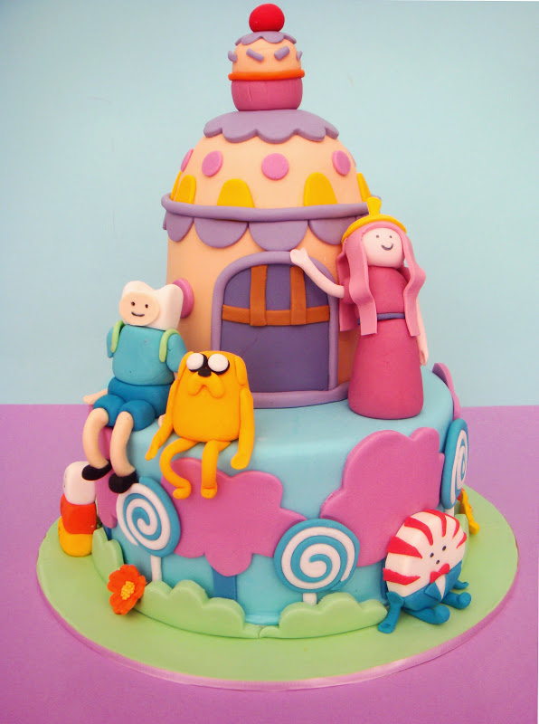 butter hearts sugar adventure time birthday cake
