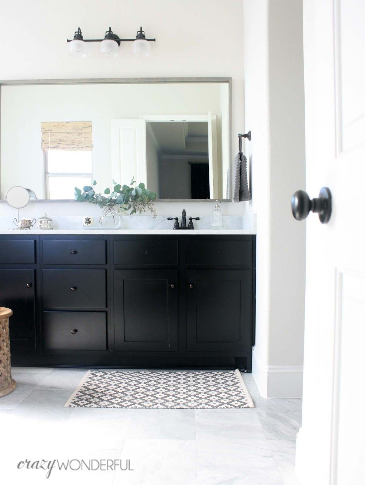 Fresh  can add a faux keyhole like I did in our master bathroom It us more of a subtle addition but I love how it makes the vanity look a little more special