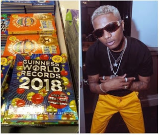 Wizkid makes 2018 Guinness Book of World Records (photo)