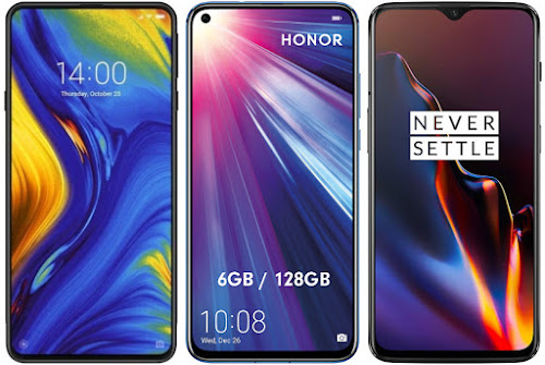 Xiaomi Mi Mix 3 vs Honor View 20 vs OnePlus 6T