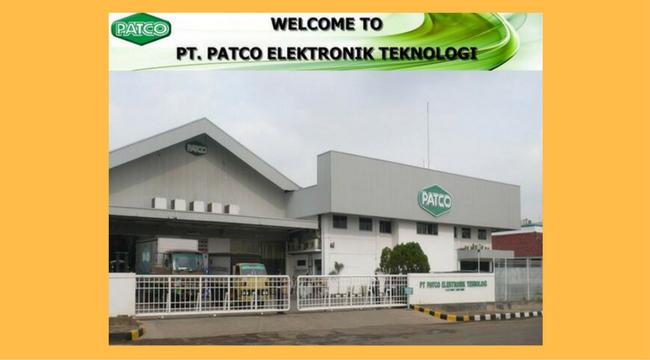 Lowongan Terbaru 2018 PT.PATCO ELEKTRONIC TEKNOLOGI Cikarang Barat