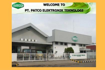 Lowongan Operator Produksi PT.PATCO ELEKTRONIC TEKNOLOGI Terbaru 2018