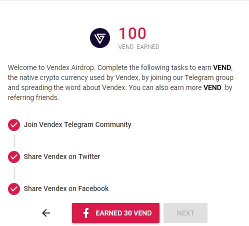 Đăng ký và nhận ngay 100 VEN (13$)