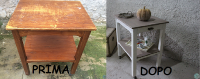 Restaurare un mobile vintage in stile shabby chic Prima e dopo
