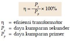 Pengertisn, Jenis, cara Efisiensi Transformator 5