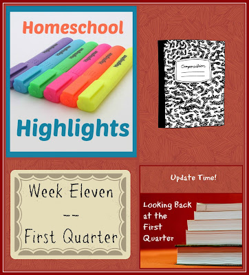 Homeschool Highlights - Week Eleven: First Quarter on Homeschool Coffee Break @ kympossibleblog.blogspot.com
