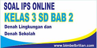 Soal IPS Online Kelas 3 SD Bab 2 Denah Lingkungan Rumah Dan Sekolah - Langsung Ada Nilainya