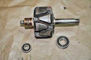 Despiece rodamientos rotor alternador-alternator rebuild Valeo 43619