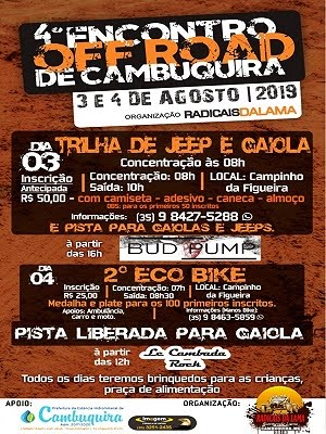 4º ENCONTRO OFF ROAD DE CAMBUQUIRA