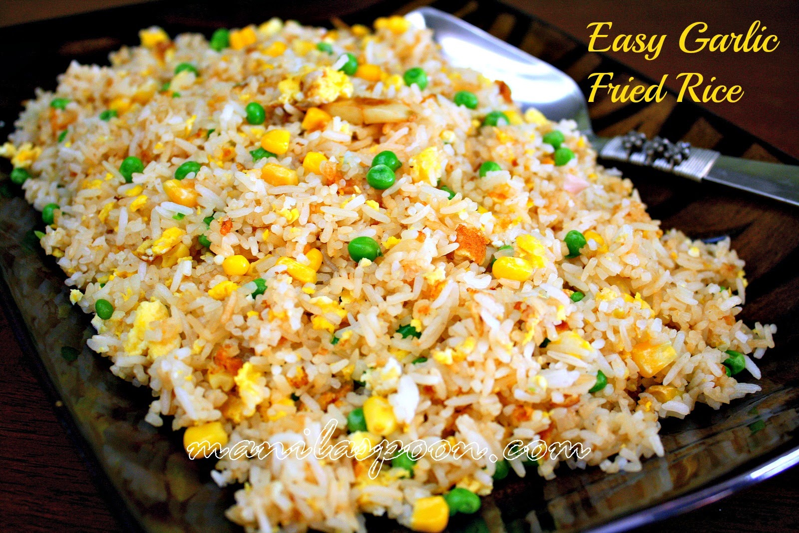 No need to throw left-over rice when you can make this easy, tasty and versatile garlic fried rice. Tried and tested!