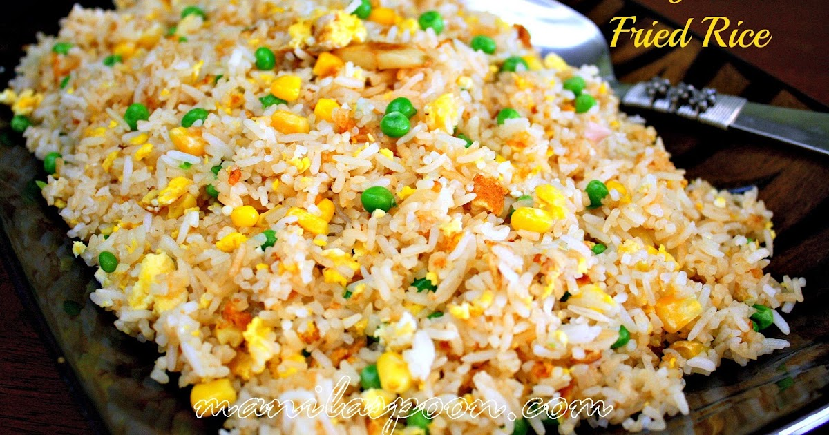Easy Garlic Fried Rice Sinangag Manila Spoon