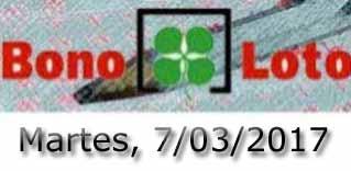 Lotería bonoloto del martes 7 de marzo de 2017