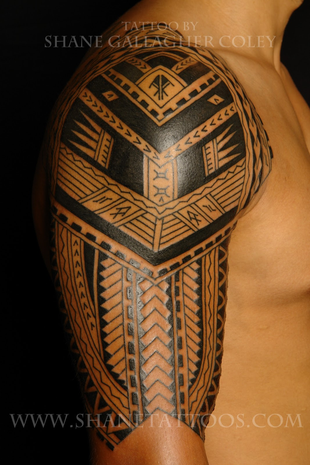 Samoan Tattoo: SHANE TATTOOS: Polynesian/Samoan Sleeve Tattoo (in Progress