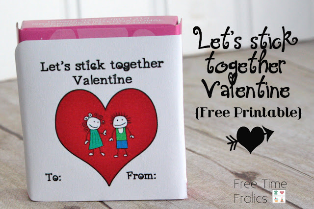 sticker Valentines for classmates www.freetimefrolics.com