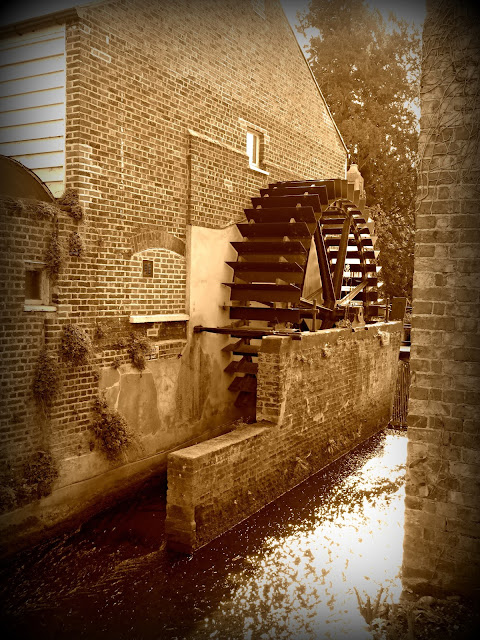 The Snuff Mill Water Wheel, Morden Hall, Morden
