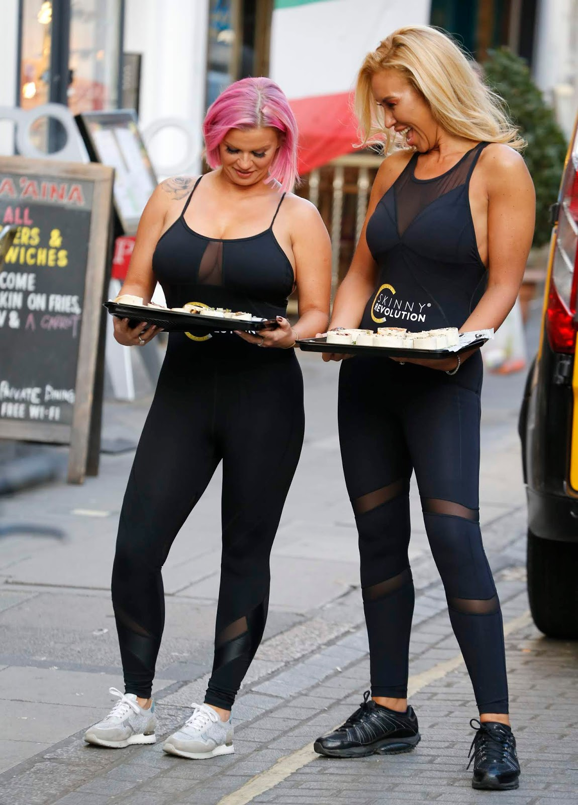 Kerry Katona Helps Amipka Pickston Launch Her New Weight Control Programme Skinny Revolution In London 01/08/2019