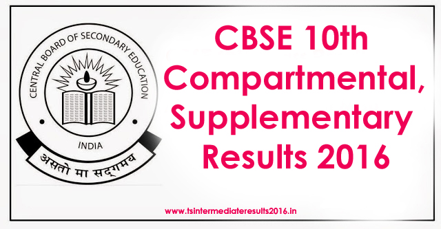 CBSE 10th Supplementary Results 2017