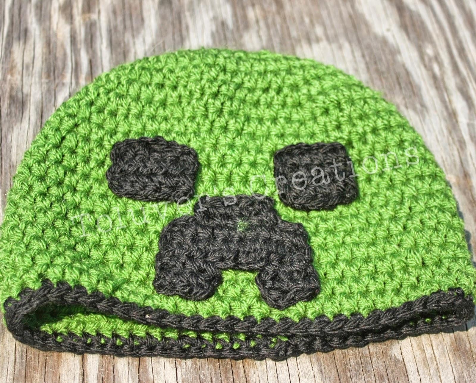 613b5138856 Toluver s Creations  MineCraft Creeper Hat Free Pattern