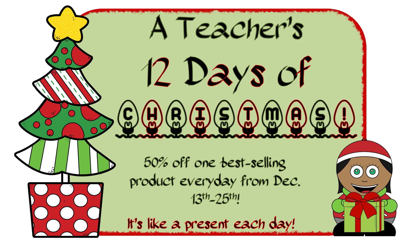 hi everyone welcome back to the 12 days of christmas where you can grab one of my best selling products for 50 off for one day only