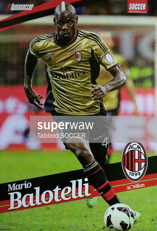 Poster Mario Balotelli Ac Milan 2013