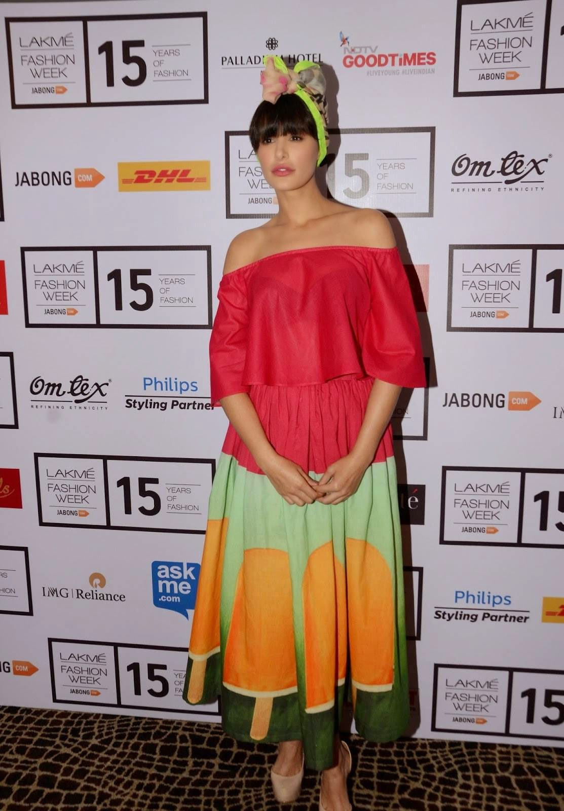 Nargis Fakhri At Lakme Fashion Week Media Meet 2015 Stills
