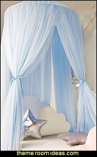 Mosquito Net Canopy Kids Room Decoration  Nursery Rhyme themed nursery decorating - Moon stars twinkle twinkle baby nursery decorating ideas -  storybook bedrooms - counting sheep baby bedroom ideas Humpty Dumpty decor - Mother Goose - moon stars baby bedding - Moon and Stars themed nursery - Nursery Rhymes wall murals - celestial themed baby nursery - moon stars wall stickers - stars clouds wall decals - moon stars baby bedroom ideas - moon stars nursery decor