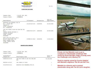 Mahathir pemegang saham syarikat jet peribadi FlyJet Sdn Bhd
